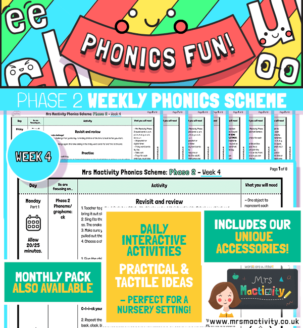 phonics scheme primary resources EYFS KS1 planning daily plans phonics resources