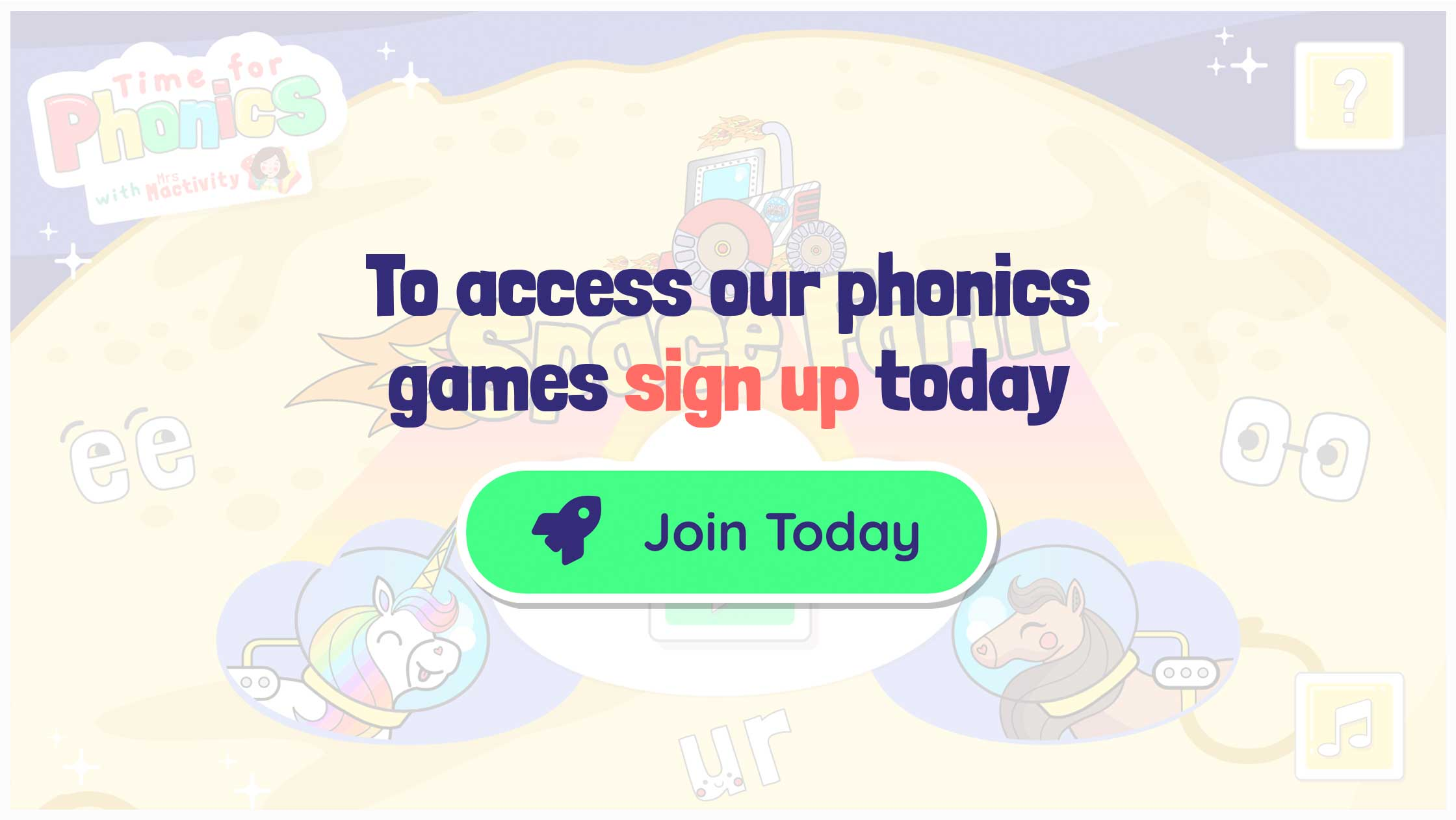 Free phonics games for kids UK children EYFS KS1 phase 2 3 4 5