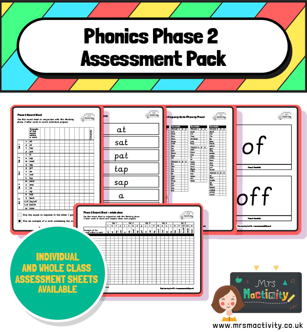 phase 2 assessment pack Free phonics games for kids UK children EYFS KS1 phase 2 3 4 5 2021 Time for phonics