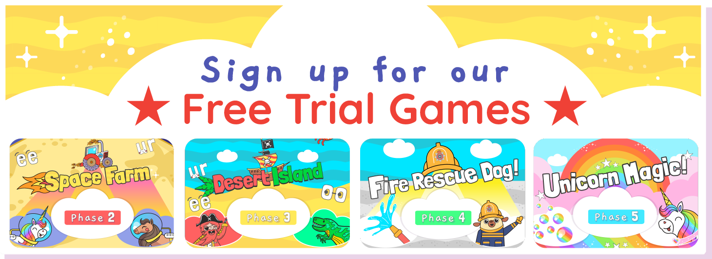 free trial games banner