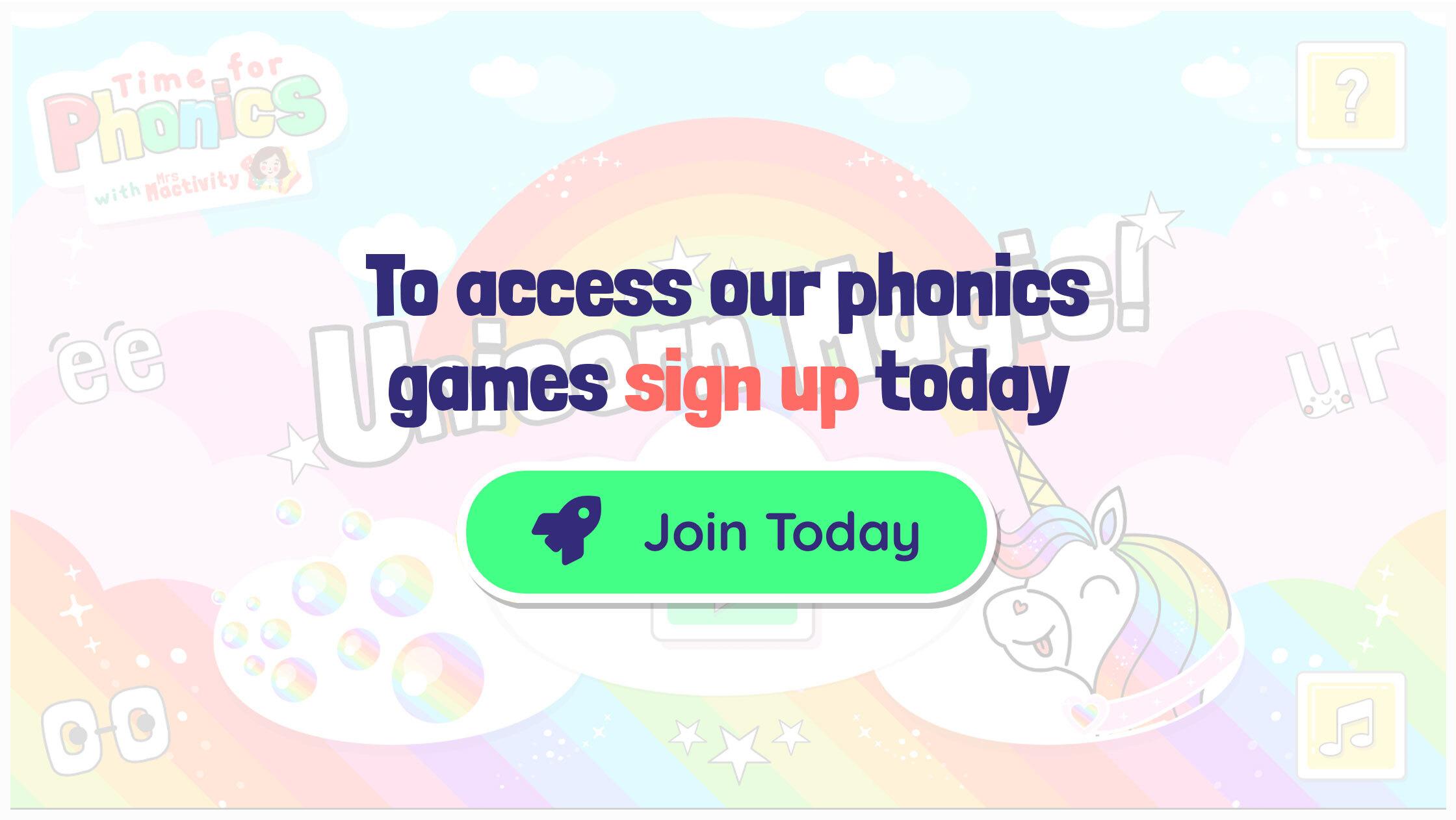 Free phonics games for kids UK children EYFS KS1 phase 2 3 4 5