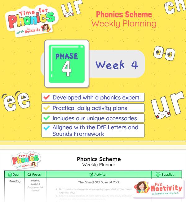 phase 4 phonics planning